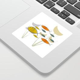 Mid Century Modern Fish, Marine Life Sticker