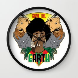 Save the eARTh (Africa) Wall Clock