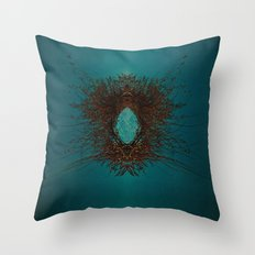 triangleface Throw Pillow