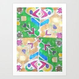 etno flower Art Print