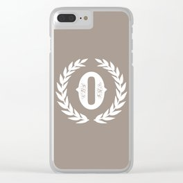 Beige Monogram: Letter O Clear iPhone Case