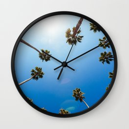 Palm Trees in Los Angeles Wall Clock