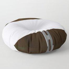 White Sign Floor Pillow