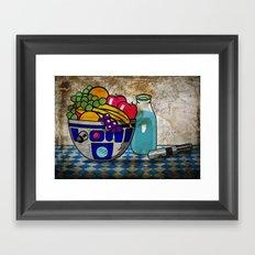 Still Life...with Blue Milk  Framed Art Print