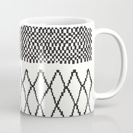 Moroccan Patchwork in Cream and Black Coffee Mug