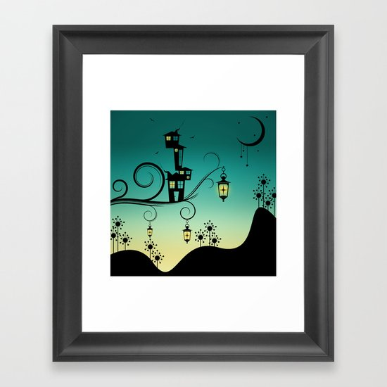 Good Night Little One. Framed Art Print