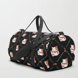 Maneki Neko Pattern Duffle Bag