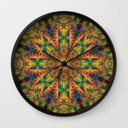 Mandala Glitch Amsterdam Wall Clock