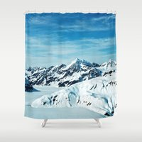 alaska Shower Curtains featuring Alaska by Elise Giordano