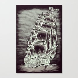 Caleuche Ghost Pirate Ship Variant Canvas Print