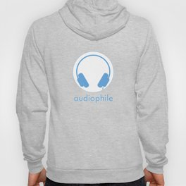 Symbol: Audiophile blue & white with text Hoody