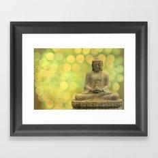 Buddha light yellow Framed Art Print