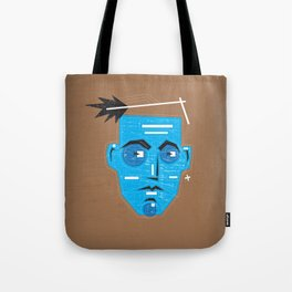 Primitive Face Tote Bag