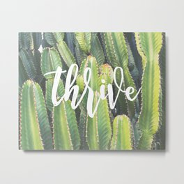 MANTRA SERIES: Thrive Metal Print