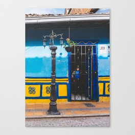 Man in the Shadows of Guatape, Colombia Canvas Print
