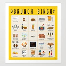 Brunch BINGO Art Print