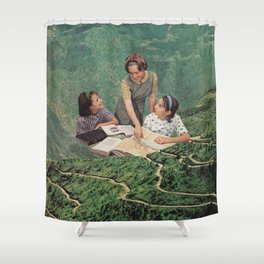 Geography Shower Curtain