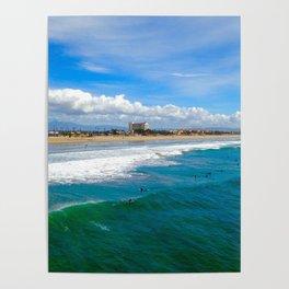 Huntington Beach Surfers Poster