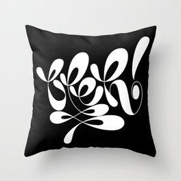 Bleh! Lettering Throw Pillow