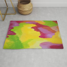 fall colors abstract nature joyful Rug