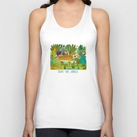 jungle Tank Tops featuring Jungle by Milanesa