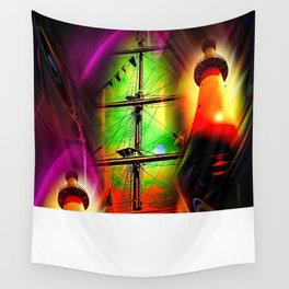 Lighthouse romance 2 Wall Tapestry