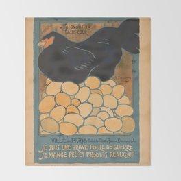 Vintage poster - I am a Fine War Hen Throw Blanket