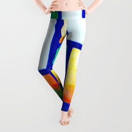 Art Deco Colorful Stained Glass Leggings