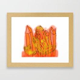 Crystals - Orange Framed Art Print