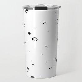 Black and White Spilled Ink Splatter Splashes Speckles Travel Mug