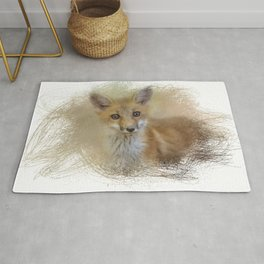 Curious Red Fox Rug