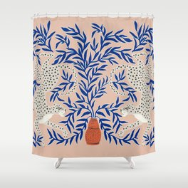 Leopard Vase Shower Curtain