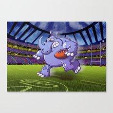 Olympic Rugby Rhinoceros Canvas Print