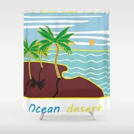 ocean desert Shower Curtain