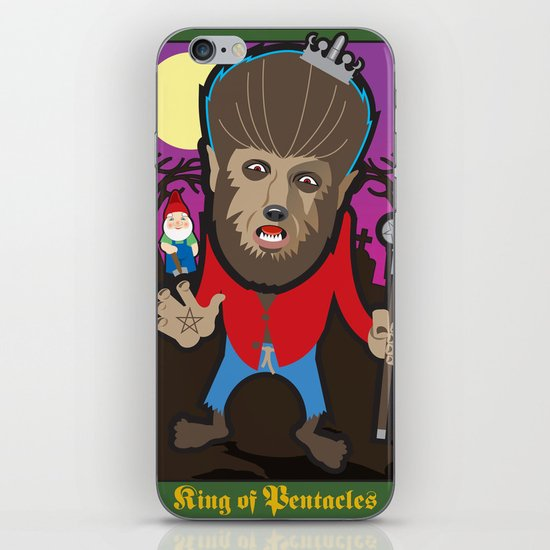 King of Pentacles iPhone & iPod Skin