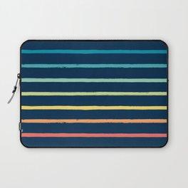 Blue Festival Rainbow Stripe Laptop Sleeve