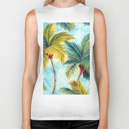 Palm Tree Allover Biker Tank