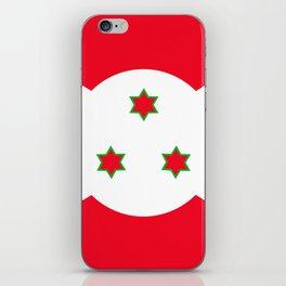 Flag of Burundi iPhone Skin