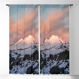 Mount Baker Mountain Adventure Sunset - Nature Photography Blackout Curtain