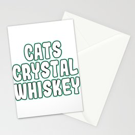 """""""Cats Crystal Whiskey"""" tee design. Perfect for gifts to your family and friends! Grab yours now!  Stationery Cards"""