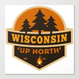 Retro Up North Wisconsin Canvas Print