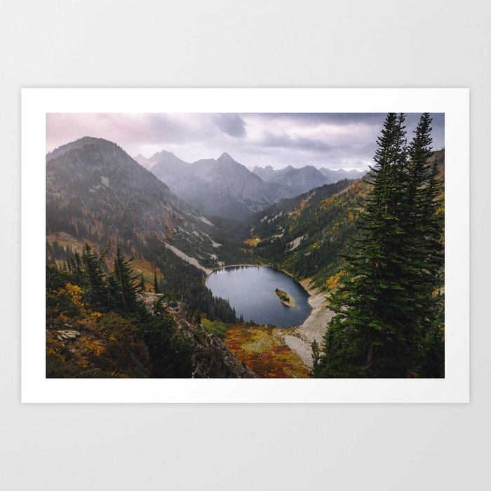 Maple Pass Loop Art Print