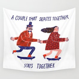 skate couple Wall Tapestry