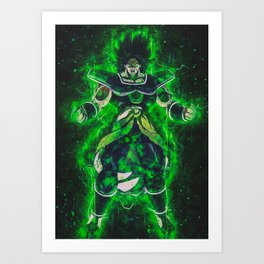 The Evil Broly Art Print