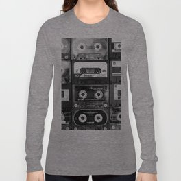 Something Nostalgic - black and white #decor #buyart #society6 Long Sleeve T-shirt