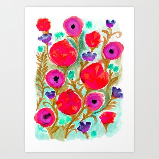 Fiona Flower Art Print