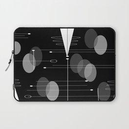 Atomic Space Age Black Laptop Sleeve