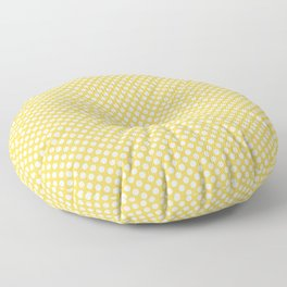 Primrose Yellow and White Polka Dots Floor Pillow