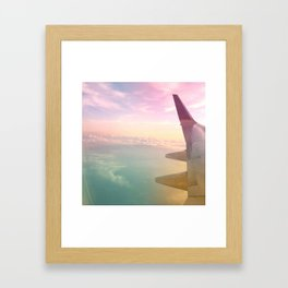 Technicolor Clouds Framed Art Print
