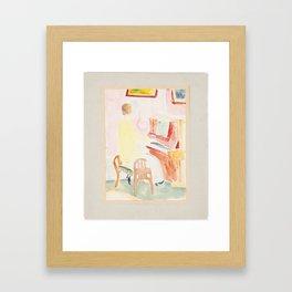 pianist by Isaac Grunewald (1889-1946) Framed Art Print